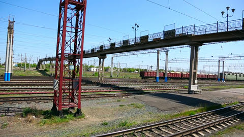 Railroad station Stock Video Footage
