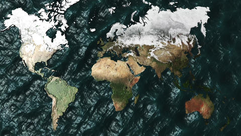3D Map Zoom to Australia with NO Sun or Clouds Stock Video Footage