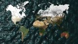 3D Map Zoom to Australia with NO Sun or Clouds Animation