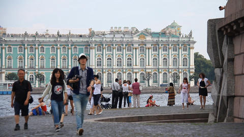 streets of St. Petersburg Stock Video Footage