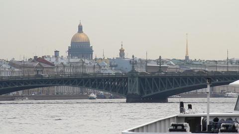 Neva River Stock Video Footage