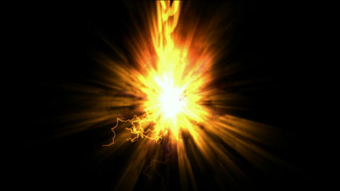 explosion fire,rays light & lightning Animation