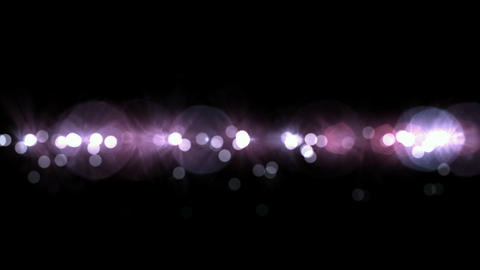 flowing line of light dots & particles,circle go... Stock Video Footage