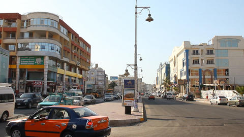 streets of Hurghada Stock Video Footage