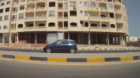 motion of the car background Stock Video Footage