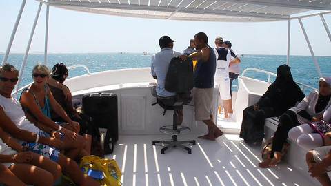 boat trip Stock Video Footage