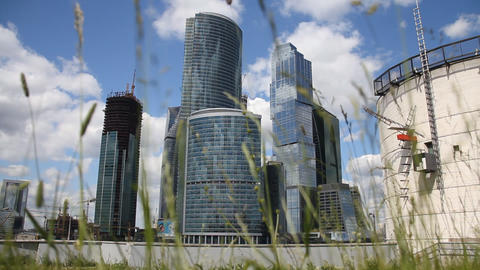 Skyscrapers of Moscow City Stock Video Footage
