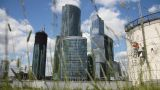 Skyscrapers Of Moscow City stock footage