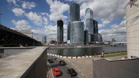 Skyscrapers of Moscow City TimeLapse Stock Video Footage