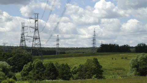 power pylons Stock Video Footage