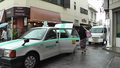 Ishigaki Okinawa Islands 14 taxi Stock Video Footage