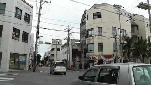 Ishigaki Okinawa Islands 18 traffic Stock Video Footage