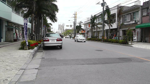 Ishigaki Okinawa Islands 21 traffic Stock Video Footage