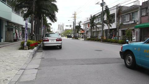Ishigaki Okinawa Islands 21 traffic Stock Video Footage