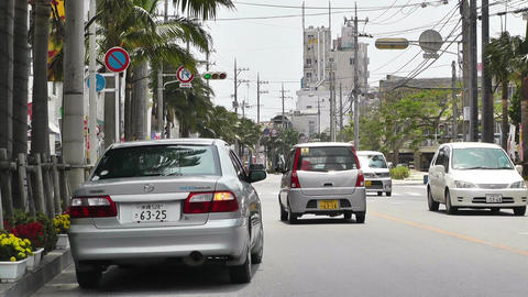Ishigaki Okinawa Islands 22 traffic Stock Video Footage