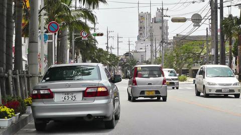 Ishigaki Okinawa Islands 22 traffic Stock Video Footage