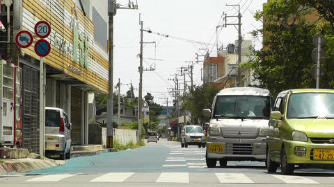 Ishigaki Okinawa Islands 24 traffic Stock Video Footage