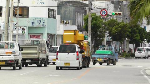 Ishigaki Okinawa Islands 34 traffic Stock Video Footage