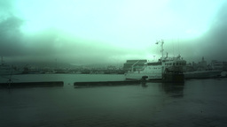 Japan Coast Guard Ship in a Port in Okinawa 01 stylized Footage