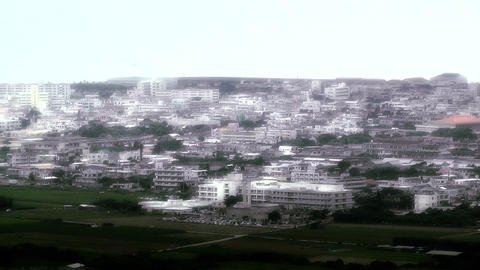 Japanese rural City in Okinawa Islands stylized 01 Stock Video Footage