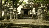Japanese Shrine in Japanese Garden stylized 05 Footage