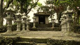 Japanese Shrine in Japanese Garden stylized 05 Stock Video Footage