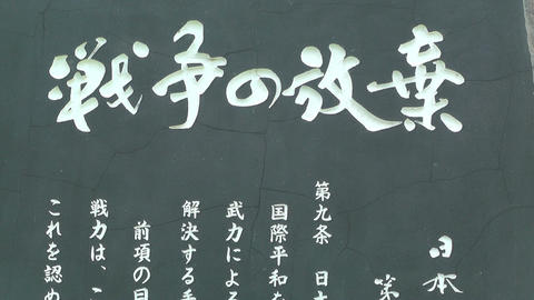 Japanese Text on Stone 03 Stock Video Footage
