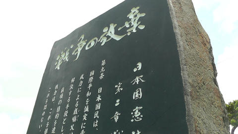 Japanese Text on Stone 05 Stock Video Footage