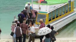 Kabira Beach Bay Ishigaki Okinawa Islands 05 tourists 60fps native slowmotion Footage
