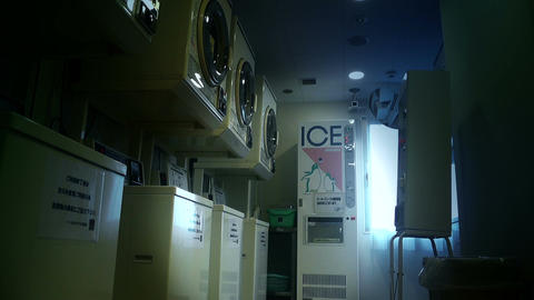 Laundry in Japan 03 stylized Stock Video Footage