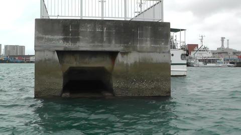 Leaving Port in Ishigaki Okinawa Islands 04 tracking shot Stock Video Footage