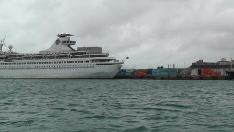 Leaving Port in Ishigaki Okinawa Islands 06 tracking shot Stock Video Footage