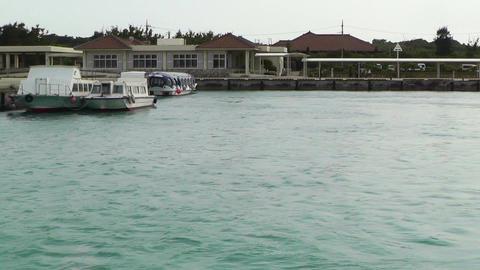 Leaving Taketomi Island Okinawa 01 tracking shot Stock Video Footage
