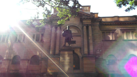 Matthew Flinders Monument and State Library of New South... Stock Video Footage