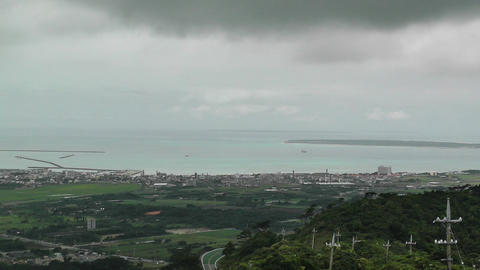 Mount Omoto view to Ishigaki Okinawa Islands 04 Footage