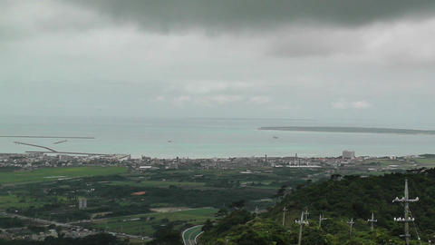 Mount Omoto view to Ishigaki Okinawa Islands 04 Stock Video Footage