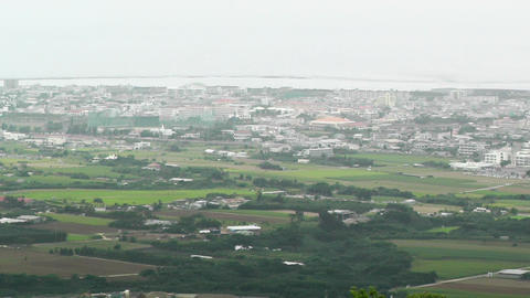 Mount Omoto view to Ishigaki Okinawa Islands 06 pan Footage