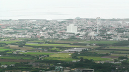 Mount Omoto view to Ishigaki Okinawa Islands 06 pan Stock Video Footage