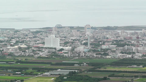 Mount Omoto view to Ishigaki Okinawa Islands 10 Stock Video Footage