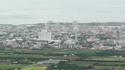 Mount Omoto view to Ishigaki Okinawa Islands 10 Stock Video Footage