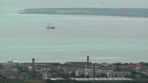 Mount Omoto view to Taketomi Island and Ishigaki Okinawa... Stock Video Footage