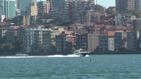 North Sydney view 02 Stock Video Footage