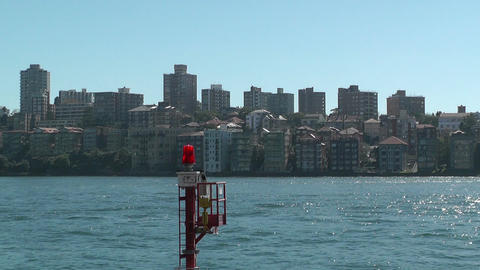 North Sydney View and Ferry 04 Stock Video Footage