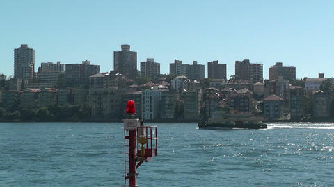 North Sydney View and Ferry 04 Footage