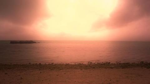 Okinawa Beach stylized 01 Stock Video Footage