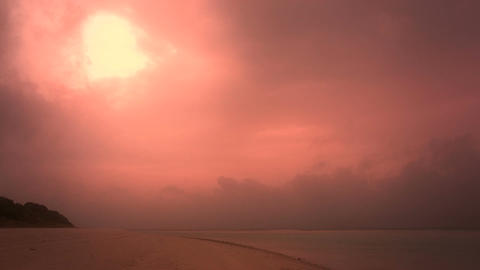 Okinawa Beach stylized 04 Stock Video Footage