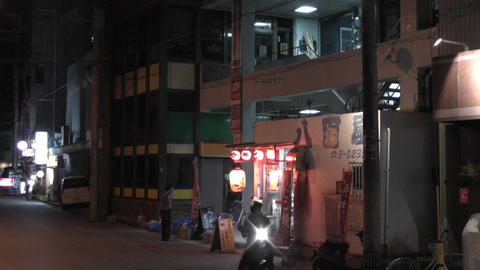 Okinawa Islands Street at Night 02 Stock Video Footage