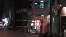 Okinawa Islands Street at Night 02 Stock Video Footage
