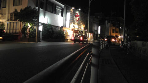 Okinawa Islands Street at Night 06 Stock Video Footage