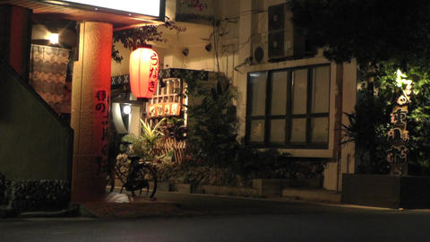 Okinawa Islands Street at Night 08 Stock Video Footage